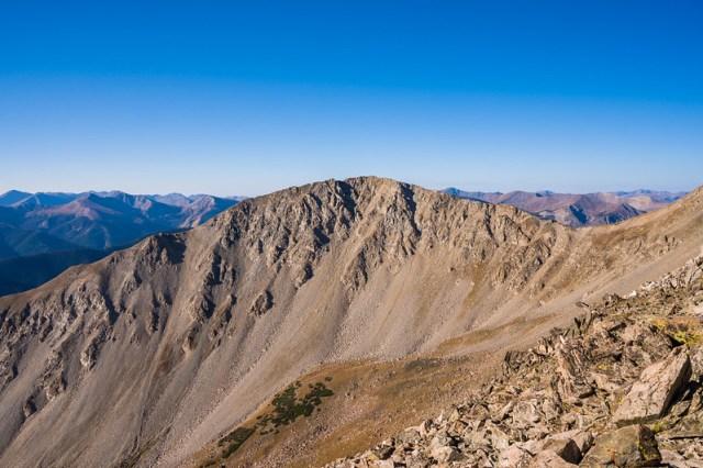 Mascot Peak from Mount Yale East Ridge