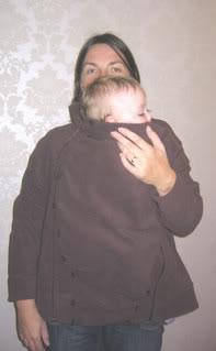 diy babywearing coat
