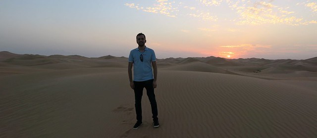 arabian nights village sunset desert