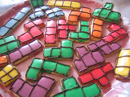 Tetris cookies