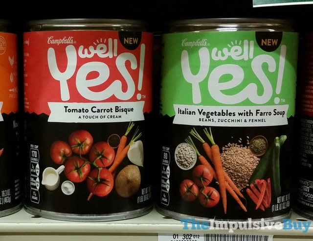 SPOTTED ON SHELVES: Campbell's Well Yes Soup