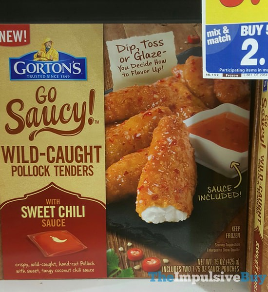 Gorton's Go Saucy! Wild-Caught Pollock Tenders with Sweet Chili Sauce