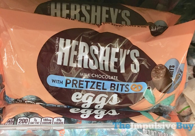 Hershey's Eggs with Pretzel Bits