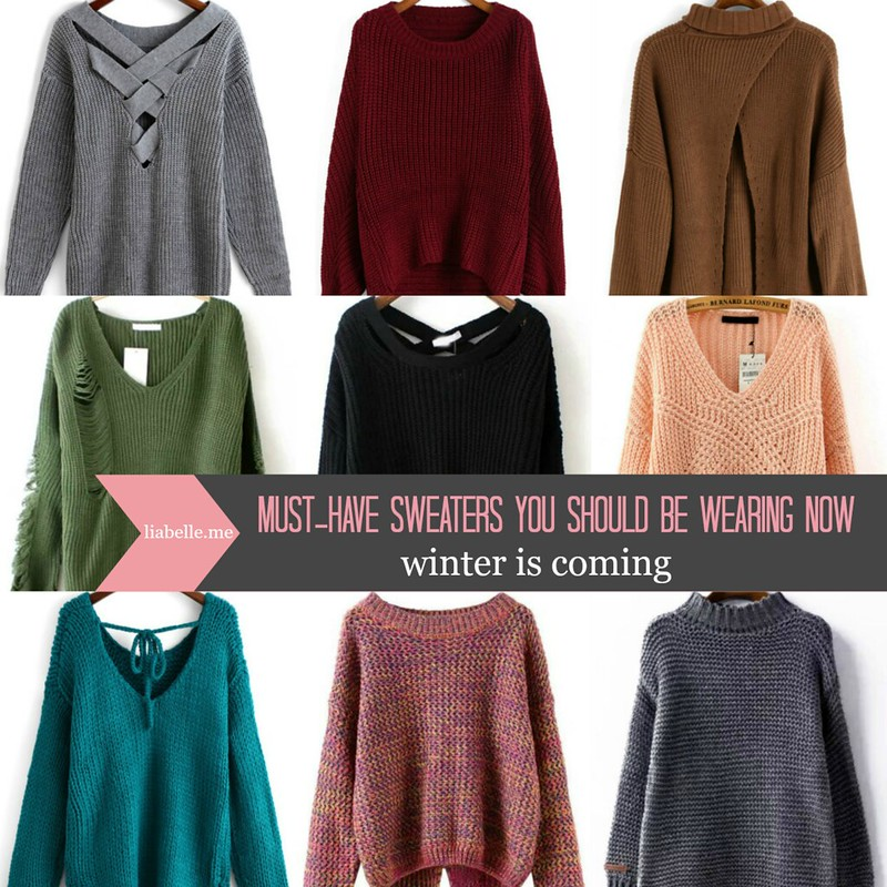 Winter is Coming: Must-Have sweaters you should be wearing now
