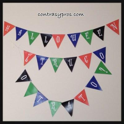 Banderines para Halloween (imprimible gratis)