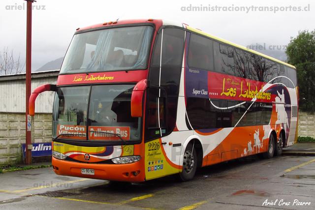 Pullman Los Libertadores (Pullman Bus) - Pucón - Marcopolo Paradiso 1800 DD / Mercedes Benz (CSBD92) (2226)