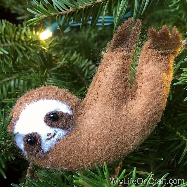 Felt Sloth Ornament