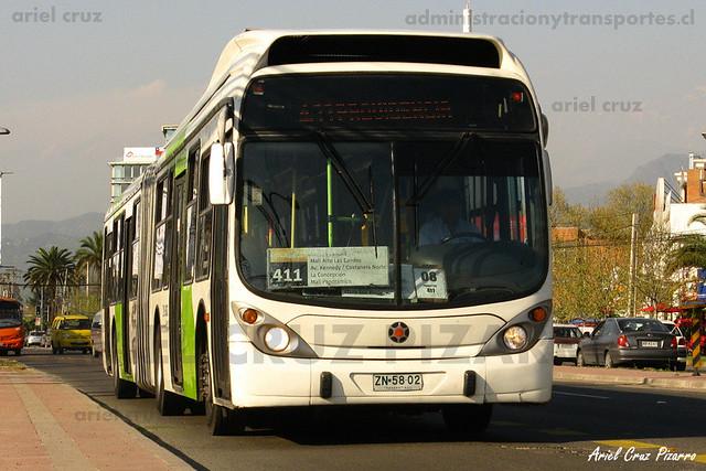 Transantiago - Express de Santiago Uno - Marcopolo Gran Viale / Volvo (ZN5802)