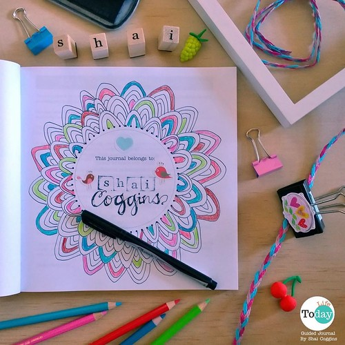 Happy Sunday! 'been meaning to share some #JournalingToday tips and sample pages from my own copy of Today: Life guided journal. Thought now might be a good time to start! Tip No. 1: Not sure how to get started? Start from the beginning! Decorate the name
