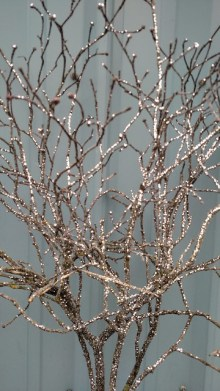 glittered branches