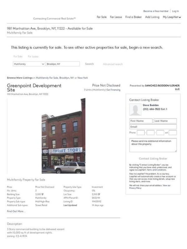 981 Manhattan Ave, Brooklyn, NY, 11222 - Mid_High-Rise Property for Sale on LoopNet_Page_1