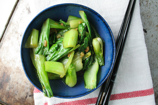 chinese choy sum with ginger and garlic [ inthiskitchen.com ]