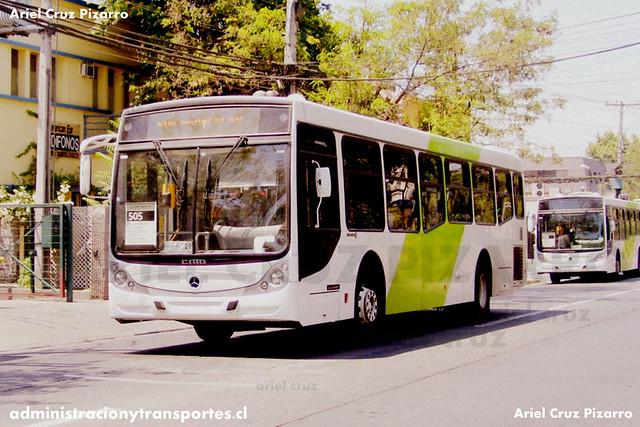Transantiago - Buses Metropolitana / Metbus - Caio Mondego H / Mercedes Benz (BFKC20)