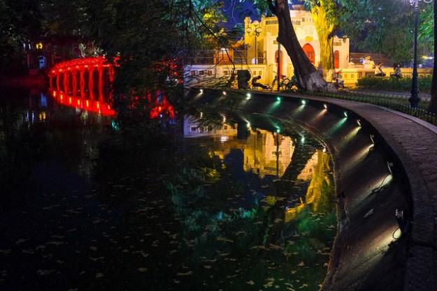 Hoan Kiem lake. Hanoi