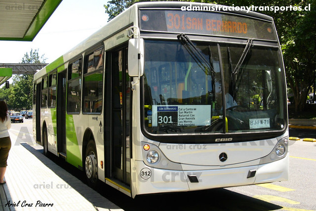Transantiago - Buses Vule - Caio Mondego H / Mercedes Benz (BJFW79) (312)