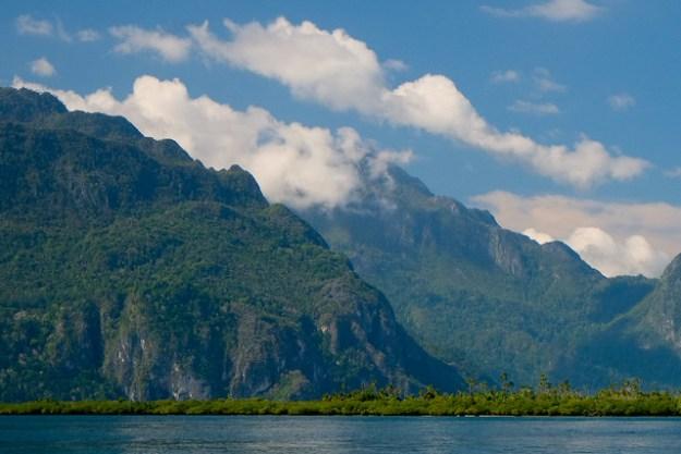 A rugged island. Sawai, Pulau Seram