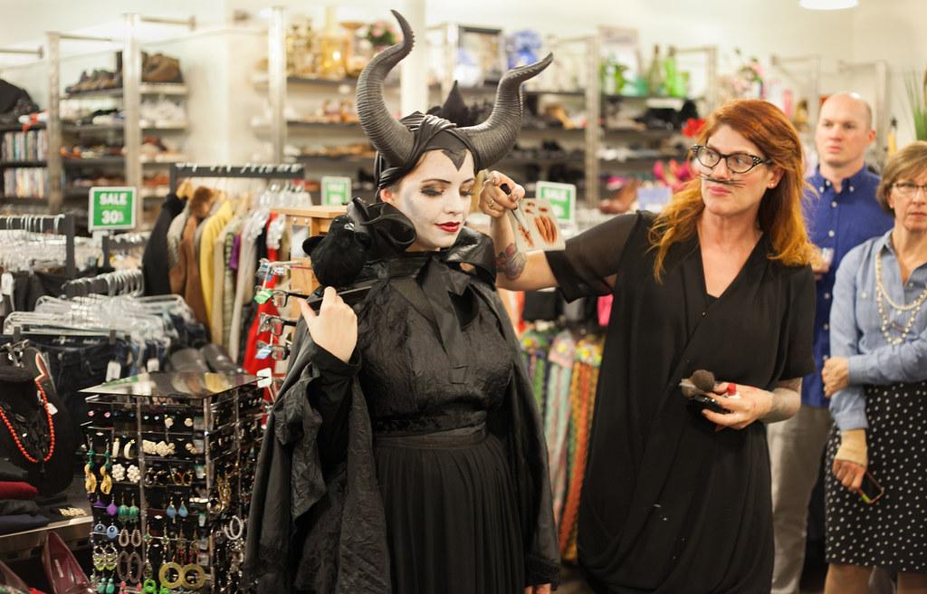 maleficent costume halloween DIY makeup
