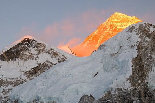 Everest in molten gold.