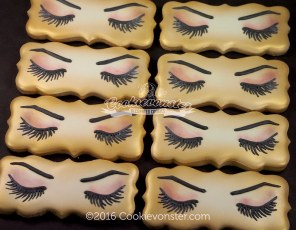 Eye lash cookies