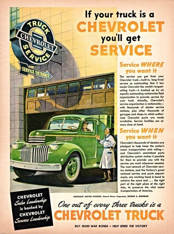 Chevrolet Truck Service - 1945