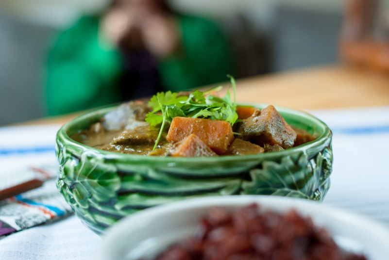 curry z wątróbką