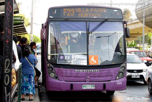 Transantiago - STP Santiago - Neobus Mega LE / Mercedes Benz (WG7195) (200)