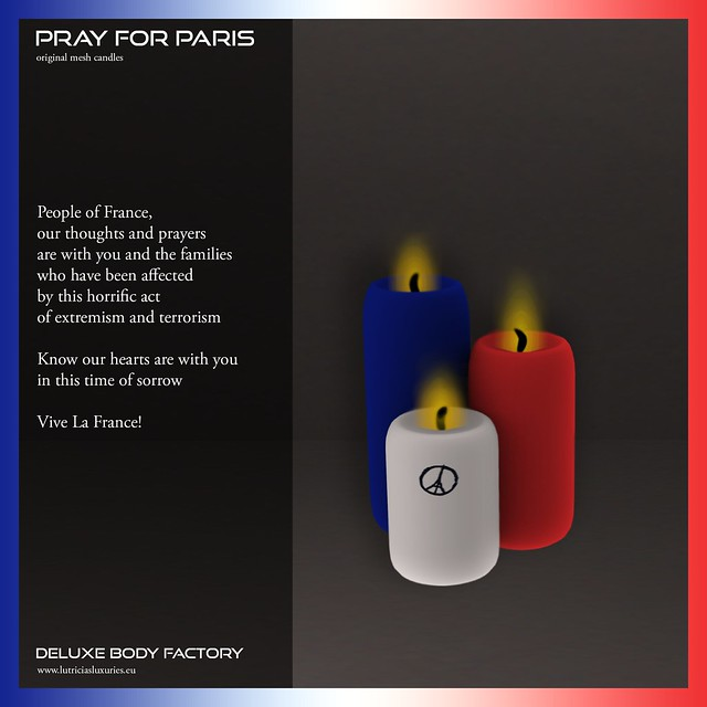 Pray for Paris candles