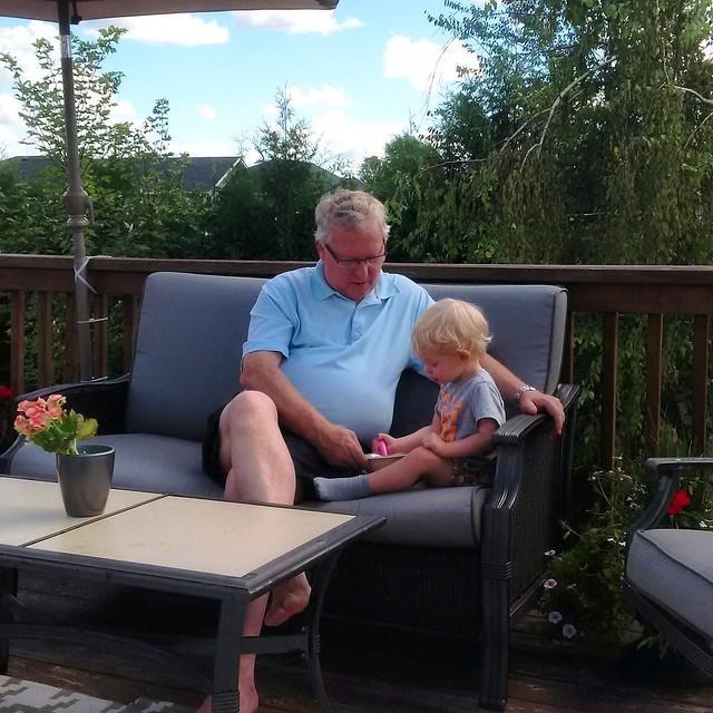 Ice cream with Grandpa