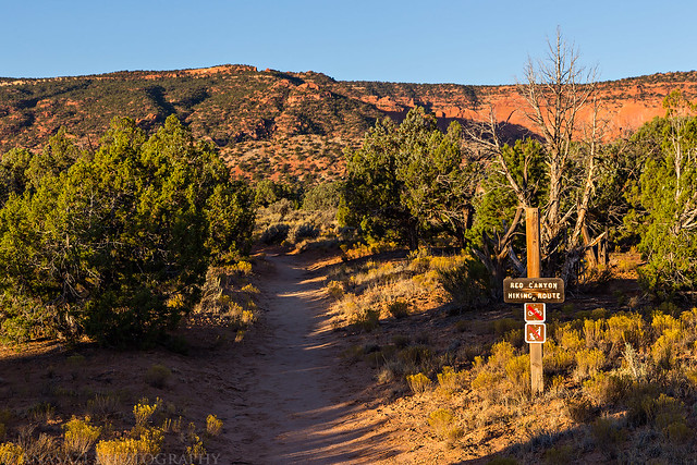 Red Canyon Hiking Route