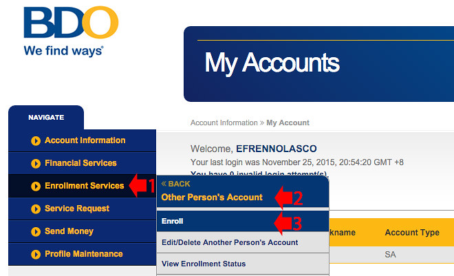 Transfer more than 10K BDO Online Banking 1