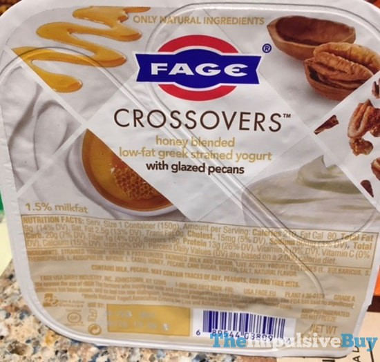 Fage Crossovers Honey Blended Greek Yogurt with Glazed Pecans