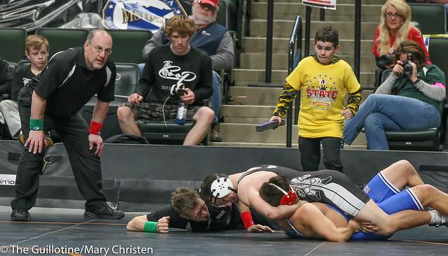 182 - Tyler Buesgens (Scott West) over Matt Ventura (Simley) Fall 1:54