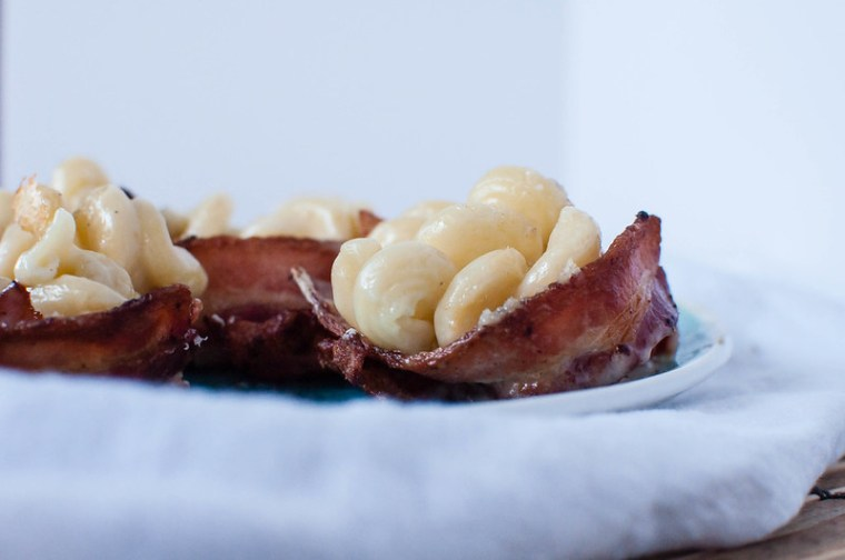Gorgonzola Macaroni and Cheese Bacon Cups 5