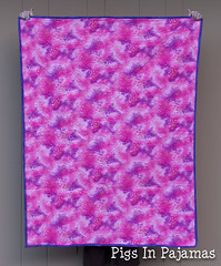 Pinky minky quilt