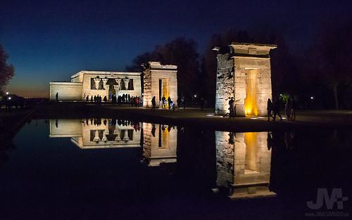 Templo de Debod, Madrid 2 (reflejos atardecer)