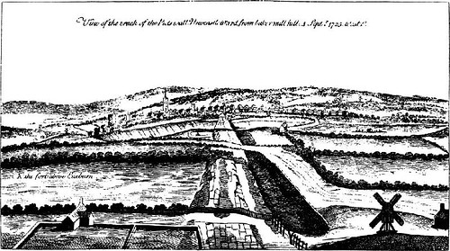 Stukeley's etching of Wall Mile 2