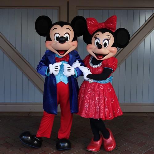 ミッキーさんとミニーさん。