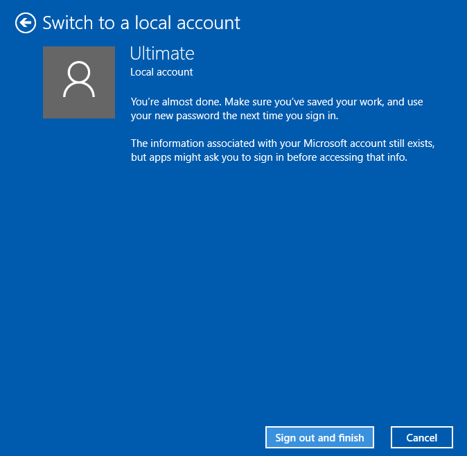 switch windows login from microsoft account to local account 5