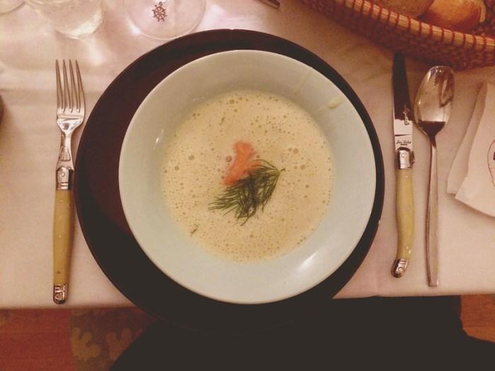 erdäpfelcreme-suppe mit räucherlachs nach donna hay