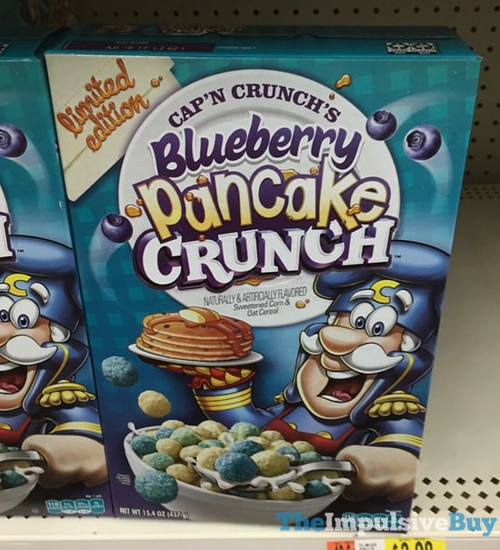 Limited Edition Cap'n Crunch Blueberry Pancake Crunch Cereal