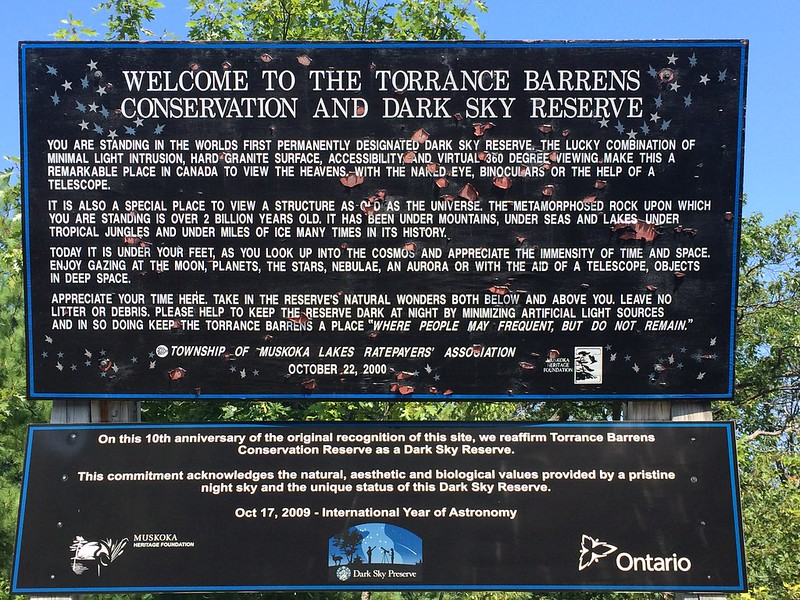 Torrance Barrens Dark Sky Reserve in Muskoka