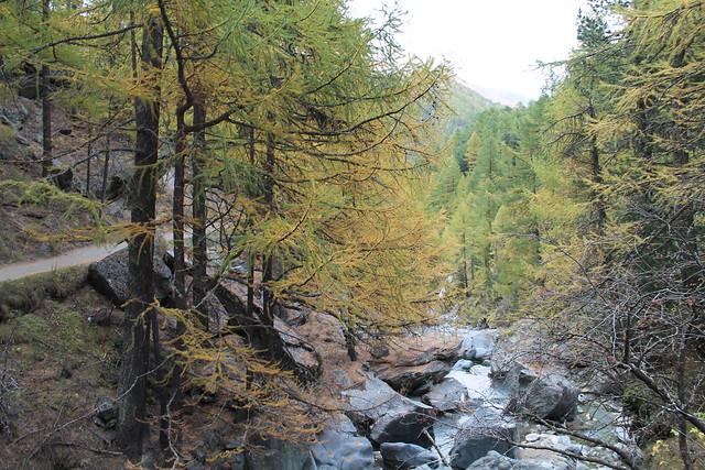 waterfall above zermatt