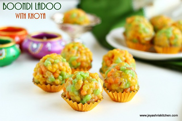 boondi ladoo- with khoya