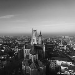 #three #towers #ghent #gent #visitgent #blackandwhite #blackandwhitephotography #historic #city #centre #belgium #belgium_unite #igbelgium #guardiancities #guardiantravelsnaps #lonelyplanet #travel #wanderlust #travelgram #landscape #city #aerialphotograp