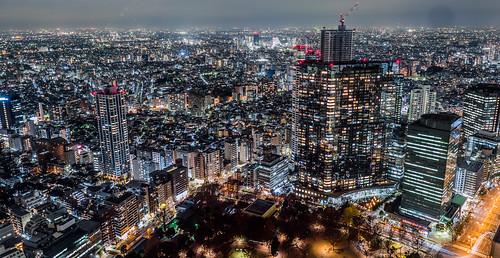 東京都庁南展望室:西北方向夜景
