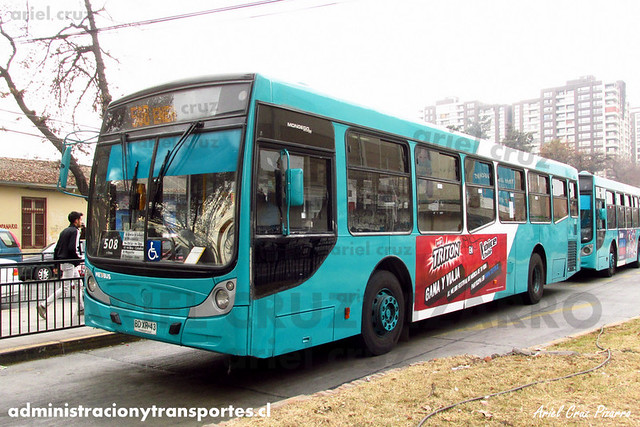 Transantiago - Metbus - Caio Mondego H / Mercedes Benz (BDXR43)