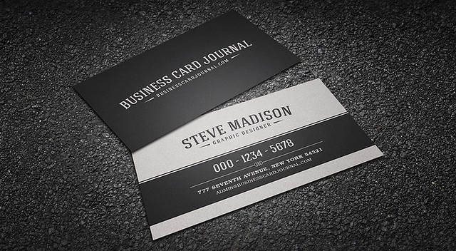 Classic Black & White Vintage Business Card Template