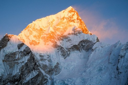 Fiery light on Lhotse
