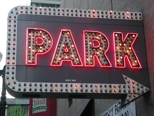 Park Sign  Imperial Parking Sign 60 E Randolph St at