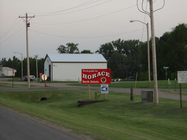 Horace North Dakota Map